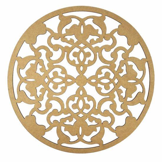 Mandala Imperial em MDF 13x13cm - Palácio da Arte