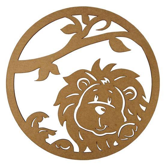 Mandala Leãozinho em MDF 13x13cm - Palácio da Arte