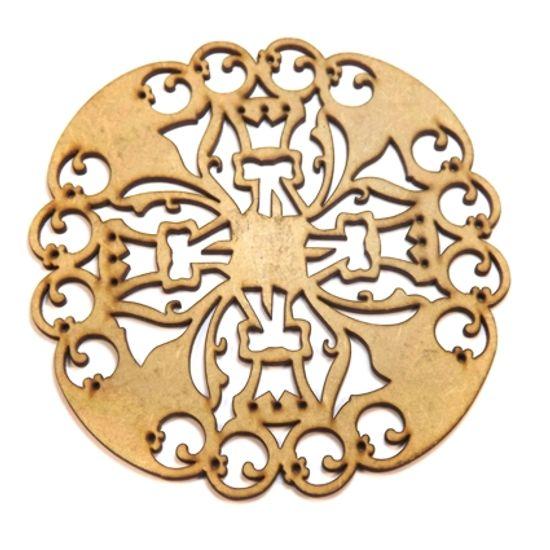 Mandala Medieval em MDF 35x35cm - Palácio da Arte