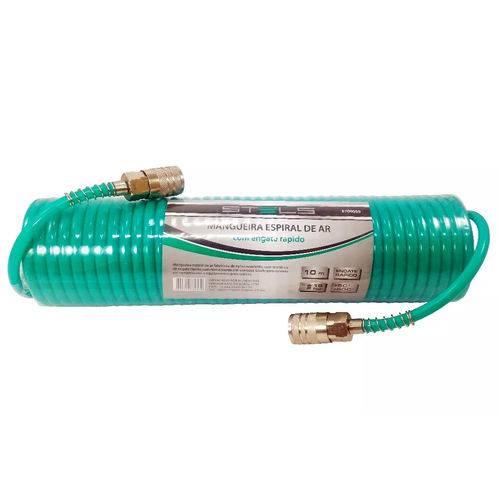 Mangueira Espiral Compressor 10 Metros com Engate 1/4 Npt 18 Bar Stels