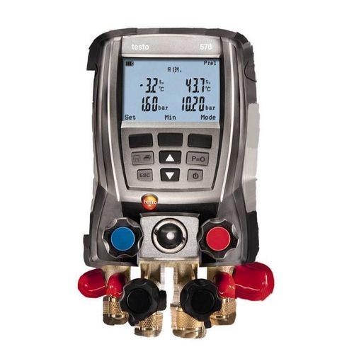 Manifold Digital Testo 570 4 Vias Vacuômetro Superaquecimento Sub-Resfriamento 2 Sondas Cabo Usb com Maleta