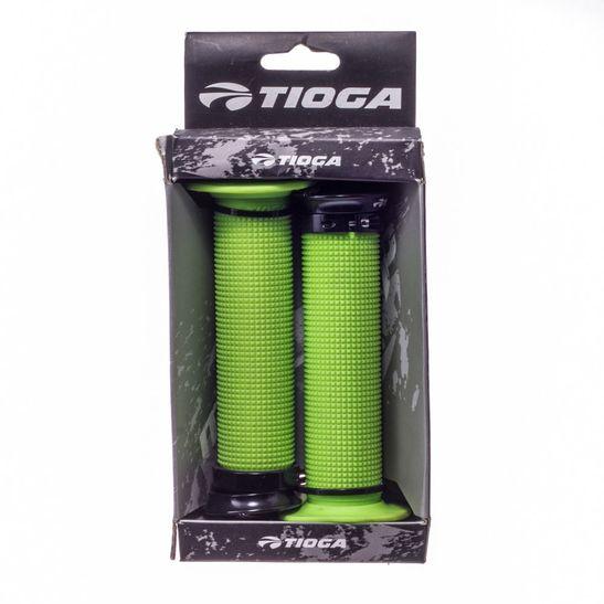 Manopla Tioga Lock On Seizer com Flange Punho Tioga Lock On Seizer com Flange-verde