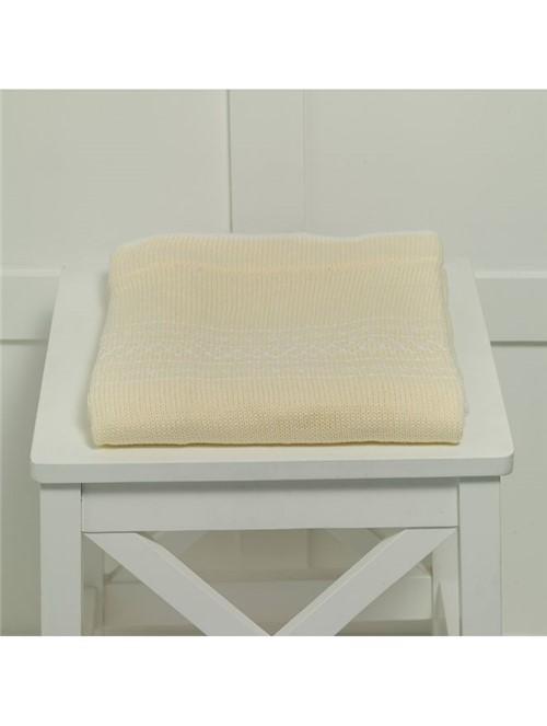 Manta Cotton Candy Amarela 80X80cm