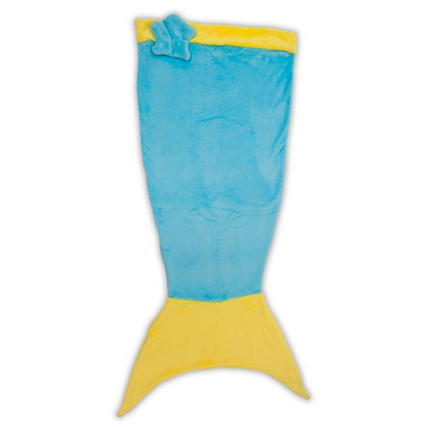 Manta Infantil de Microfibra Saco de Dormir Sereia Azul Bouton