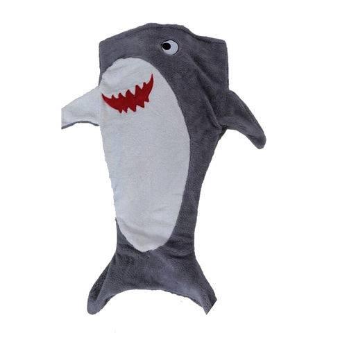 Manta Saco de Dormir Infantil Bouton Tubarão