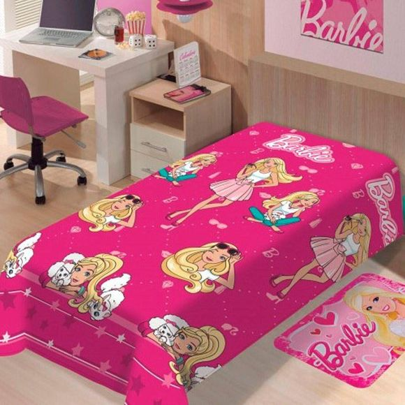 Manta Soft Solteiro 1.50 X 2.00m Barbie Fashion Jolitex