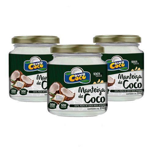 3 Manteiga de Coco 210 Grs Cada Dinococo