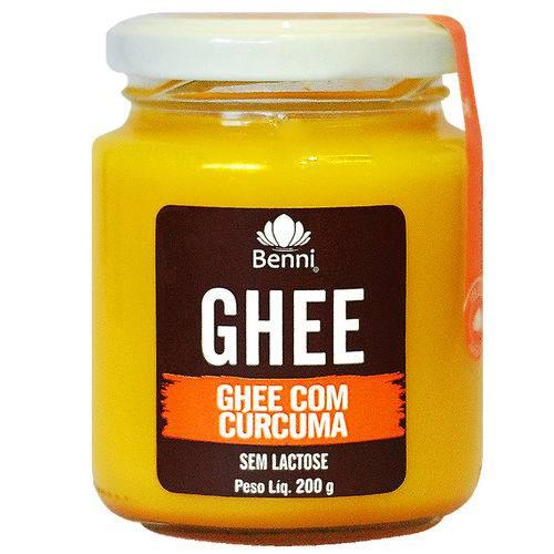 Manteiga Ghee com Cúrcuma 200g - Benni Alimentos -