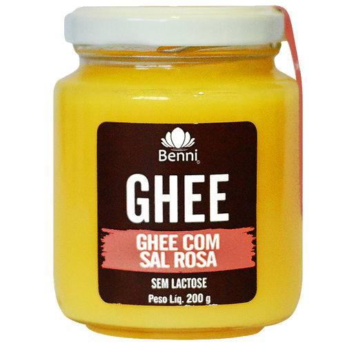 Manteiga GHEE com Sal Rosa do Himalaia 200g - Benni Alimentos -