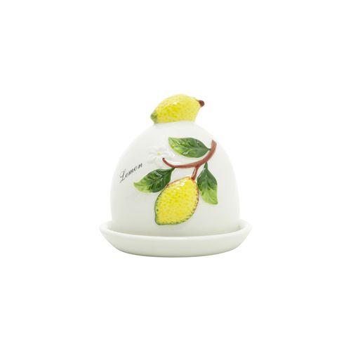 Manteigueira em Cerâmica Bon Gourmet Lemons 9x10cm