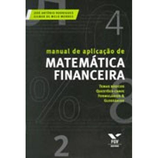Manual de Aplicacao de Matematica Financeira - Fgv