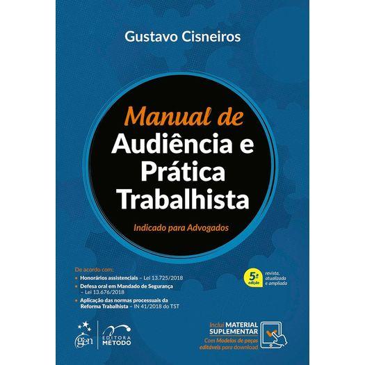 Manual de Audiencia e Pratica Trabalhista - Metodo