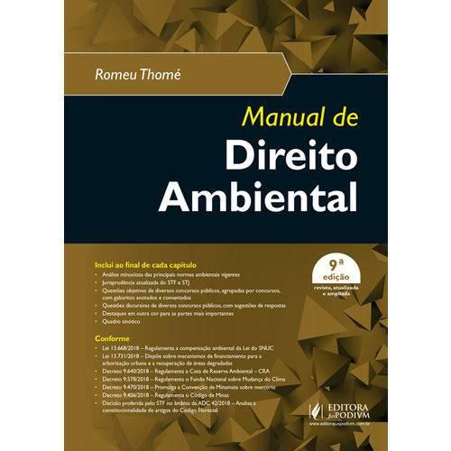 Manual de Direito Ambiental - 9ª Edição (2019)
