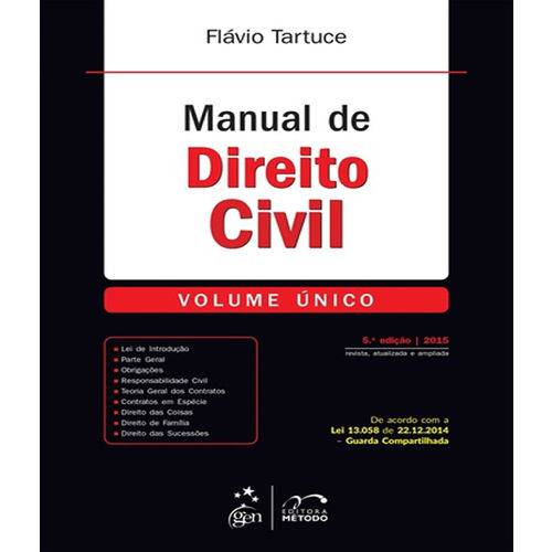 Manual de Direito Civil - Volume Unico - 05 Ed