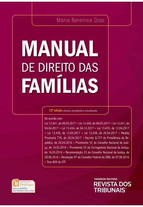 Manual de Direito das Famílias - 12ª Edição