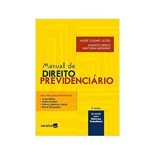 Manual de Direito Previdenciário 5ªed. - Saraiva