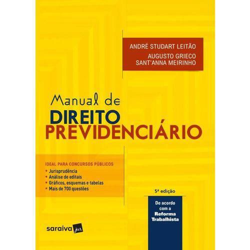 Manual de Direito Previdenciario - Saraiva