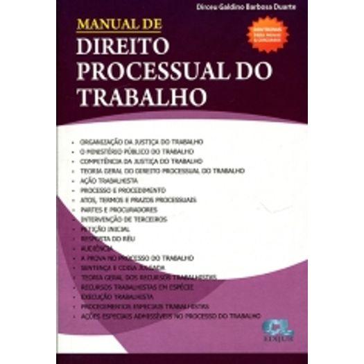 Manual de Direito Processual do Trabalho - Edijur