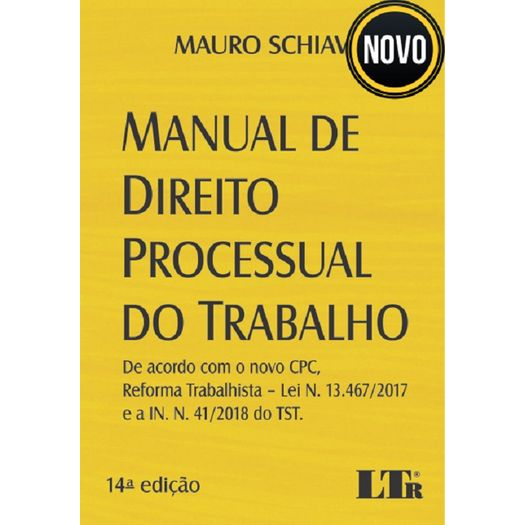 Manual de Direito Processual do Trabalho - Ltr - 14 Ed