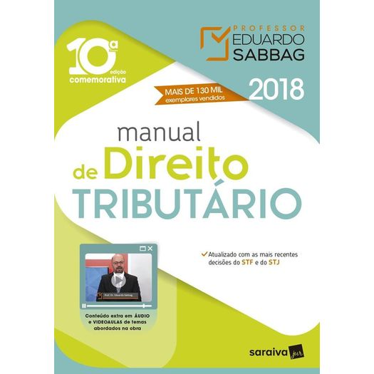 Manual de Direito Tributario - Sabbag - Saraiva - 10ed
