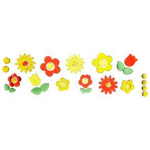 Many Flowers Decorador Espelho Multicor