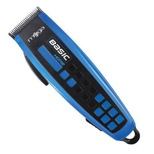 Máquina de Cortar Cabelo Basic Home 110v Azul Mega