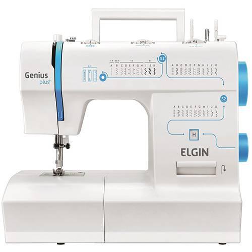 Máquina de Costura Elgin JX4035 Genius Plus Branca