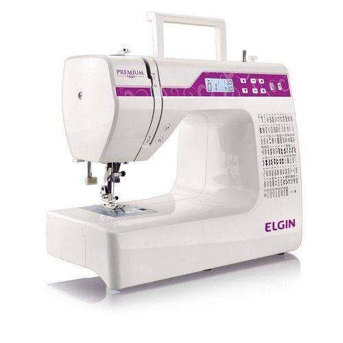 Máquina de Costura Elgin Premium JX-10.000 Branco/Roxo Bivolt