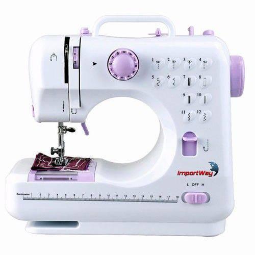 Máquina de Costura Portátil 12 Pontos Bivolt - 2 Velocidades Costura Rversa - ImportWay - 505