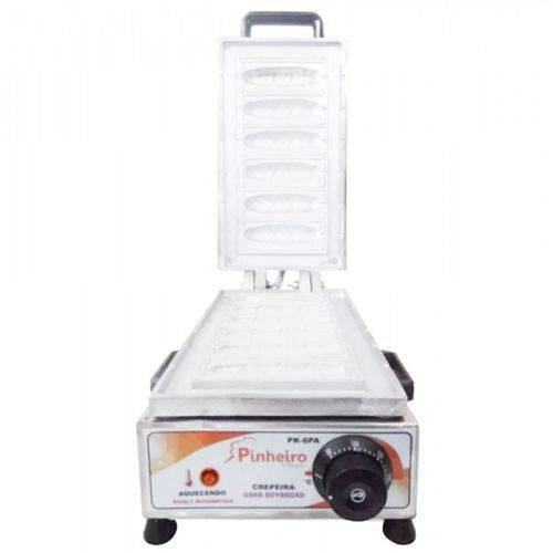 Máquina de Crepe Suíço no Palito Crepeira de 06 Cavidades Elétrica Modelo Pk-6pa Bivolt Pinheiro