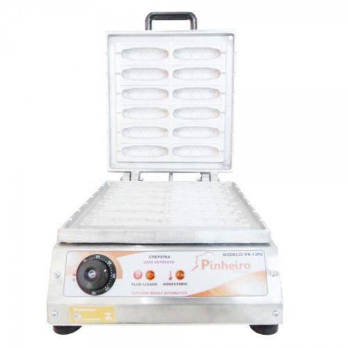 Máquina de Crepe Suíço no Palito Crepeira de 12 Cavidades Elétrica Bivolt Modelo Pk-12pa Pinheiro