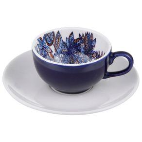 Mar e Terra Xícara Chá Azul/marrom