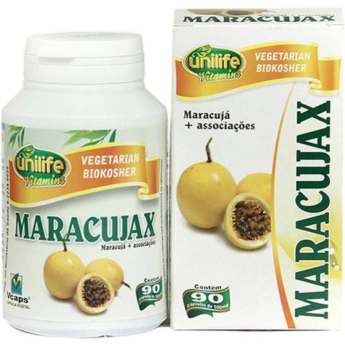 Maracujax 90 Cápsulas 500mg Calmante Natural de Maracujá e Associações - Unilife