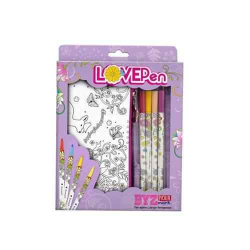 Marcadores Lovepen - Kit com 4 Canetas e 2 P. Lápis - G01