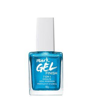 Mark. Gel Finish Esmalte 7 em 1 10ml - Azul Poseidon