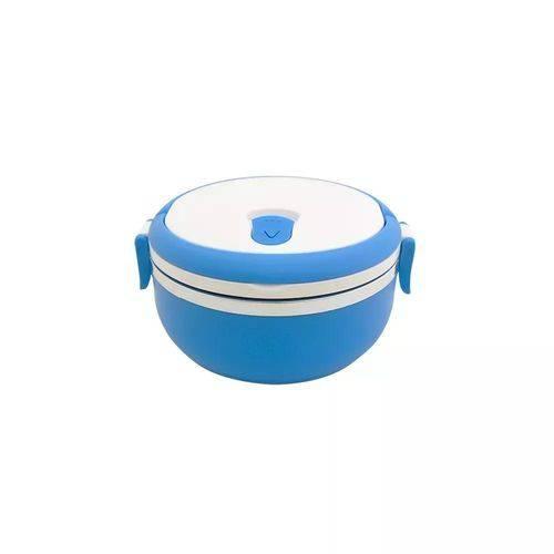 Marmita Casita 900ml Comida Fitness Casita Box Pote Azul
