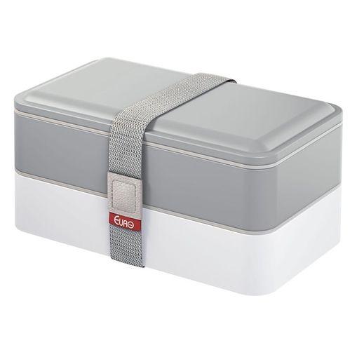 Marmita Dupla Cinza 1,2L Lunch Box Fit Euro
