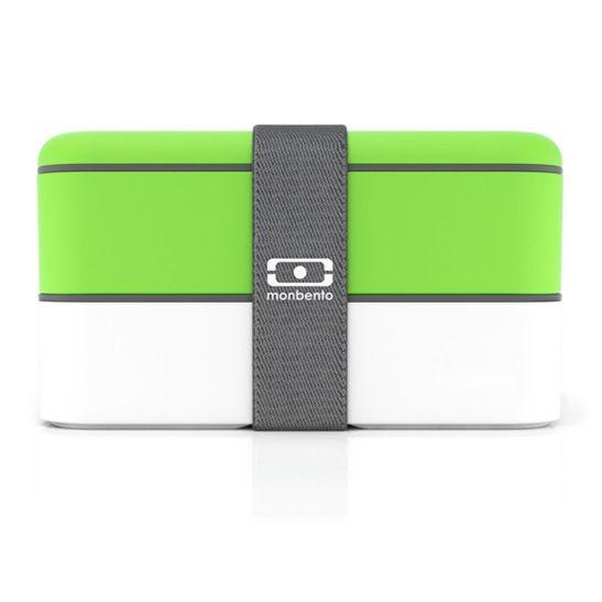 Marmita Lunchbox Mb Original Branco e Verde Monbento