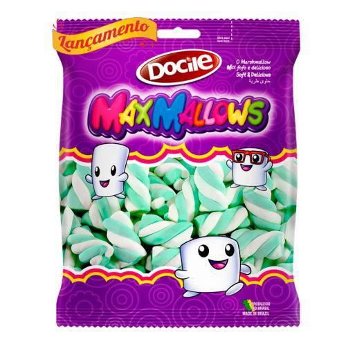 Marshmallow Twist 250g Maxmallows - Verde e Branco