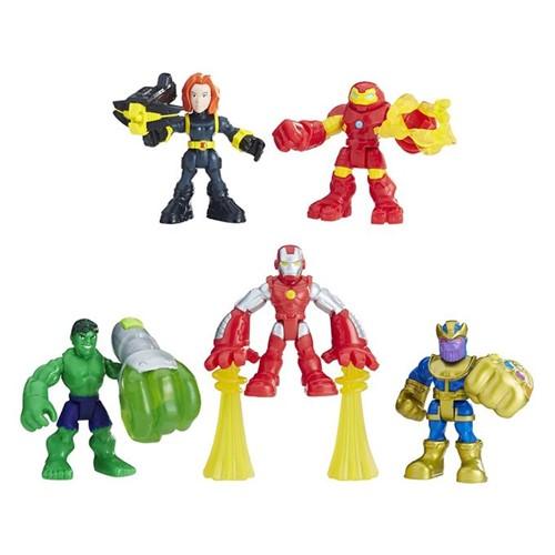 Marvel Super Hero Adventures - Esquadrão Poderoso com 5 Bonecos E0155 - HASBRO