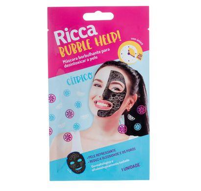 Máscara Borbulhante para Desintoxicar a Pele Bubble Help! Cítrico 1uni - Ricca