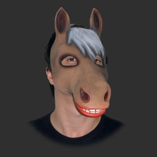 Máscara Cavalo Fantasia Carnaval Cosplay Látex Spook