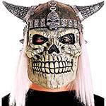 Máscara Caveira Vicking com Cabelo - Sulamericana Fantasias
