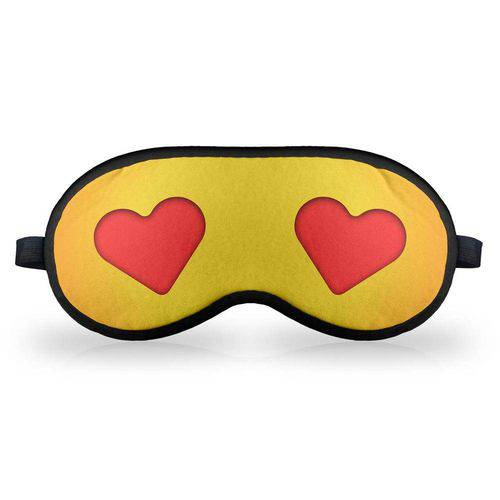 Máscara de Dormir em Neoprene - Emoticon Emoji Amor