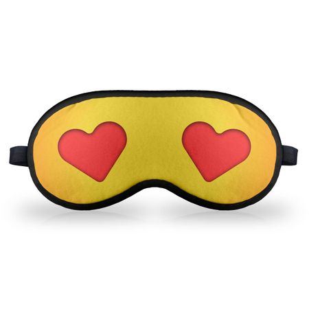 Máscara de Dormir - Emoticon Emoji Amor