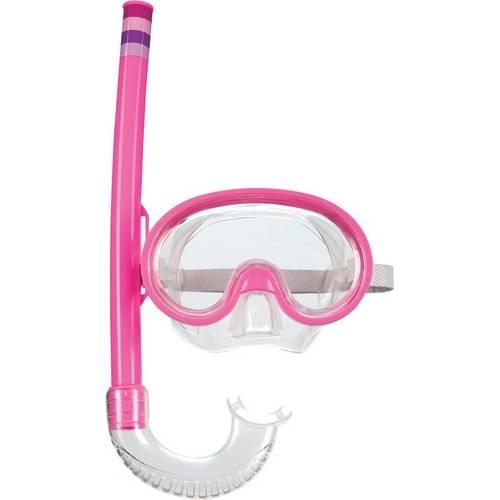 Máscara de Mergulho e Snorkel Infantil Rosa Mor