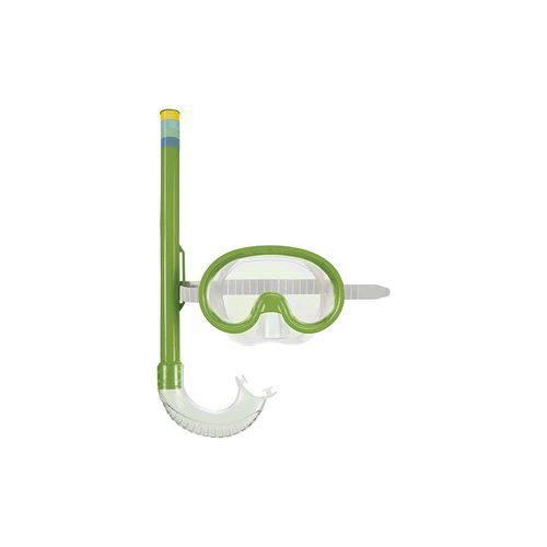 Máscara de Mergulho e Snorkel Infantil - Verde