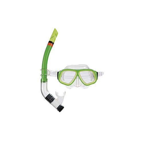 Mascara para Mergulho e Snorkel Juvenil Verde