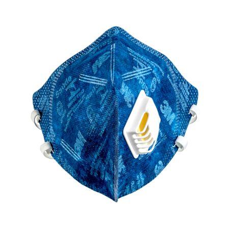 Máscara de Proteção Respiratória Dobrável Azul 9812+BR 3M 3M
