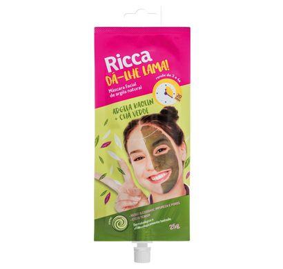 Máscara Facial Dá-Lhe Lama! Argila Kaolin e Chá Verde 25g - Ricca